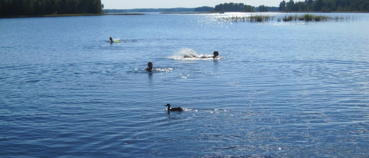Lapsille sopivat uimarannat!